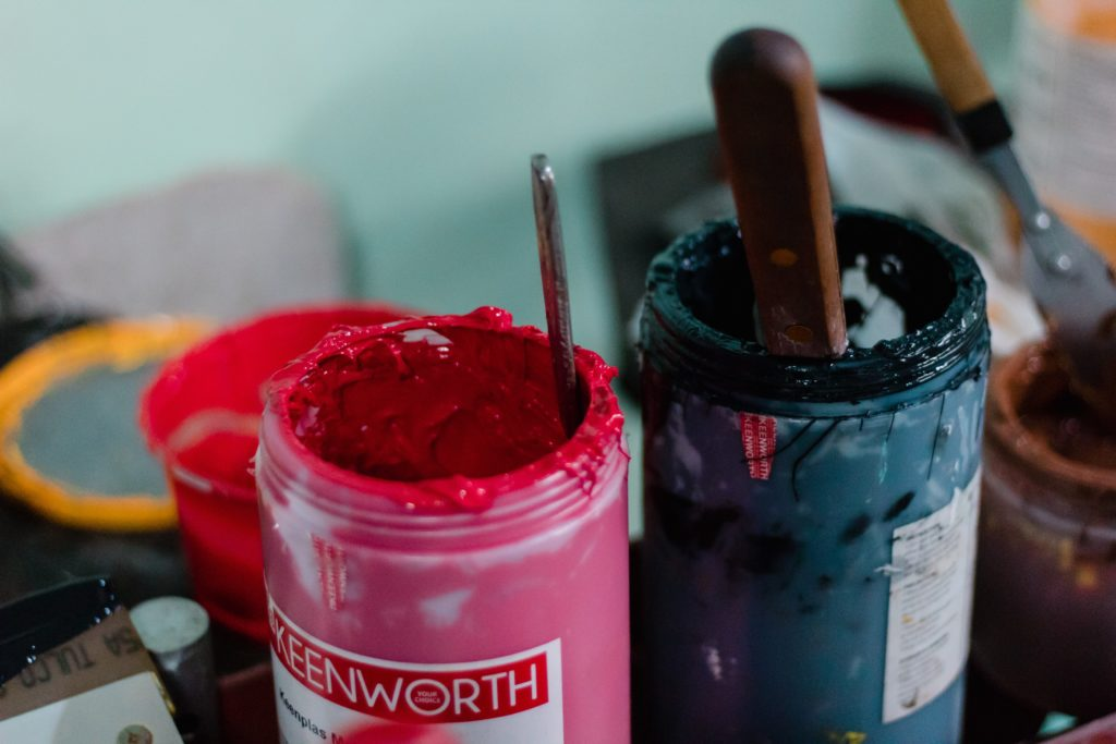 ink used for screen printing